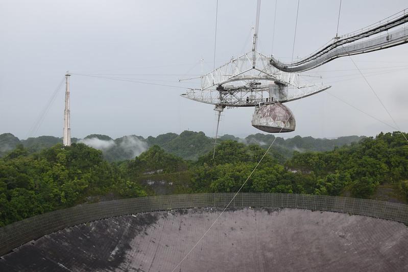 Chûte du télescope D'Arecibo